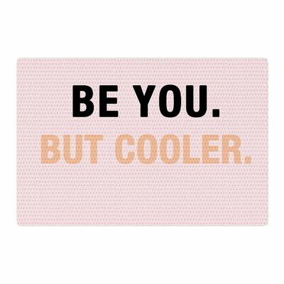 Vasare Nar Be You But Cooler Digital Pink/Black Area Rug Rug Size: 2 x 3