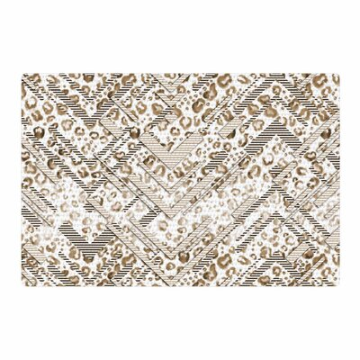 Victoria Krupp Abstract Animal Chevron Digital Beige/White Area Rug Rug Size: 2 x 3