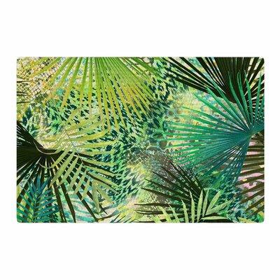 Victoria Krupp Animal Jungles Digital Green/Teal Area Rug Rug Size: 4 x 6