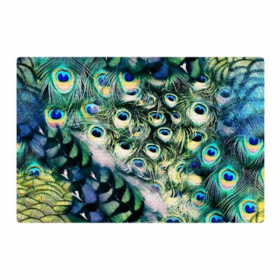 Victoria Krupp Feather Mix Digital Blue/Teal Area Rug Rug Size: 4 x 6