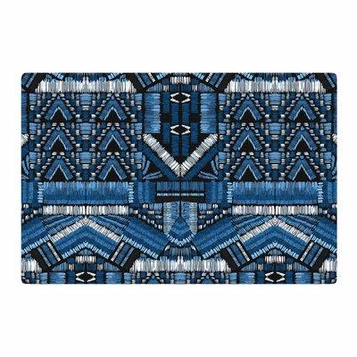 Victoria Krupp Festival Geo Illustration Blue/Black Area Rug Rug Size: 2 x 3