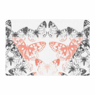 Victoria Krupp Geo Butterflies Illustration Pastel Gray Area Rug Rug Size: 4 x 6