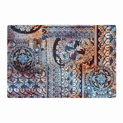 Victoria Krupp Italian Tiles Digital Blue Area Rug Rug Size: 2 x 3