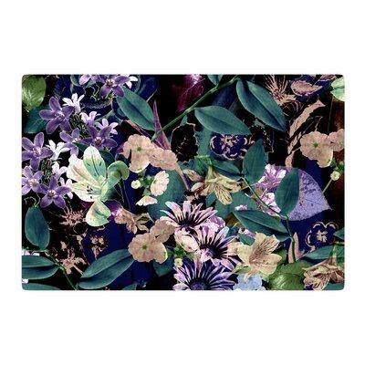 Victoria Krupp Midnight Garden Digital Green/Black Area Rug Rug Size: 4 x 6