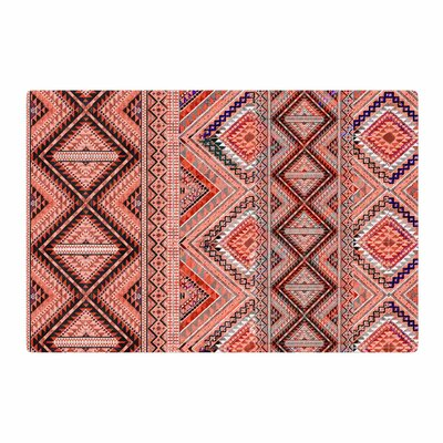 Victoria Krupp Native American Art Illustration Pink/Orange Area Rug Rug Size: 2 x 3