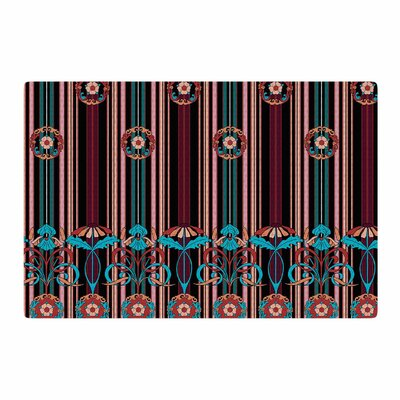 Victoria Krupp Nouveau Illustration Black/Blue Area Rug Rug Size: 2 x 3