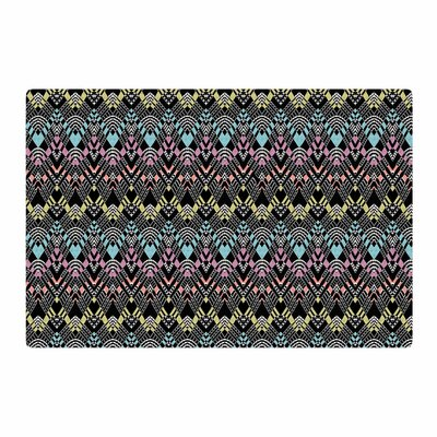 Victoria Krupp Tribal Zigzag Digital Black Area Rug Rug Size: 4 x 6