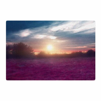 Viviana Gonzalez Sunset I C. Photography Purple/Blue Area Rug Rug Size: 2 x 3