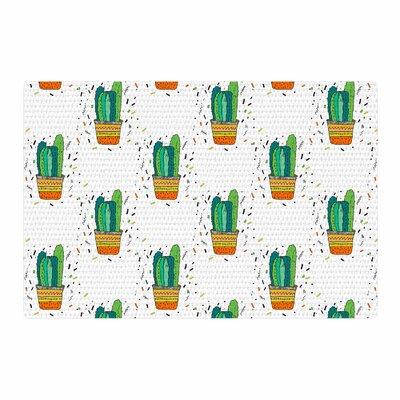Vasare Nar Cacti Cactus Fiesta Art Deco Sage/White Area Rug Rug Size: 2 x 3