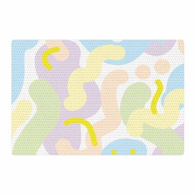 Vasare Nar Pastel Futuristic Illustration Lavender Area Rug Rug Size: 2 x 3