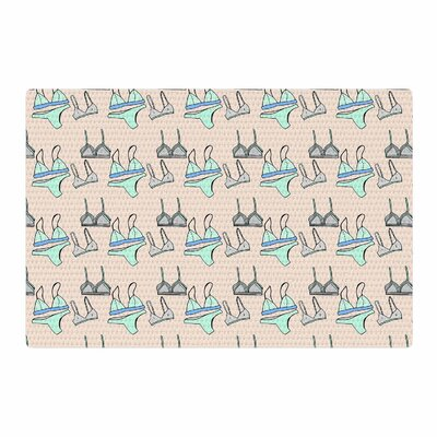 Vasare Nar Peach Underwear Illustration Pastel Tan Area Rug Rug Size: 4 x 6