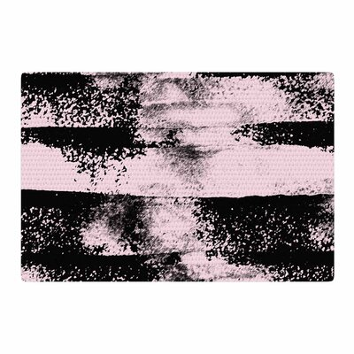 Vasare Nar Abstract Painting Pink/Black Area Rug Rug Size: 2 x 3