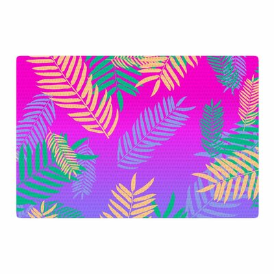 Vasare Nar Tropical Cocktail Art Deco Pop Art Magenta/Green Area Rug Rug Size: 4 x 6