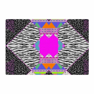 Vasare Nar Zebra Native Tribal Pattern Pink/Black Area Rug Rug Size: 2 x 3