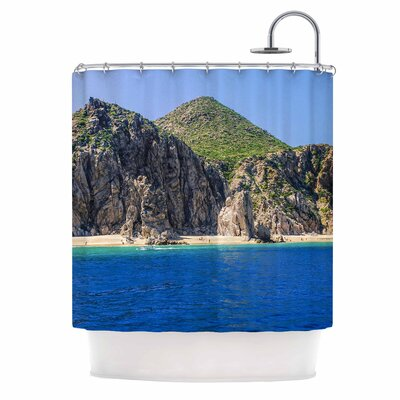 Stone Hills Coastline Photography Shower Curtain