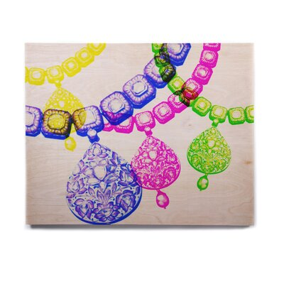 Jewellery 'Precious' Graphic Art Print on Wood EAOU8445 38976379
