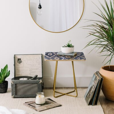Natalie Baca Painterly Ikat End Table