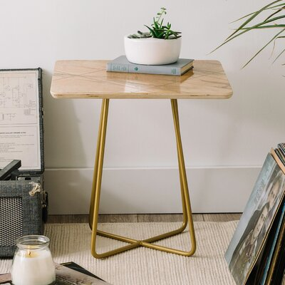 Iveta Abolina Alaskan Gelato End Table Base Color: Gold
