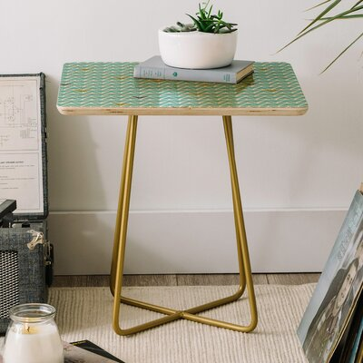 Heather Dutton Take Flight Aqua End Table
