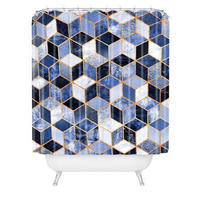 Shower Curtain Color: Blue