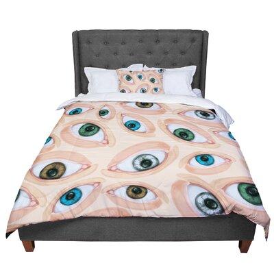 Alisa Drukman Eyes Eyeballs Comforter Size: King
