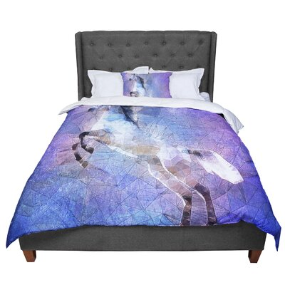 Ancello Abstract Horse Comforter Size: Twin