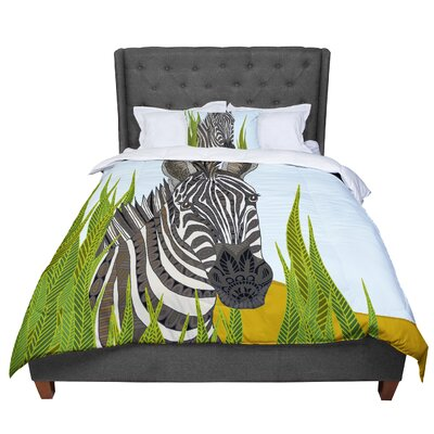 Art Love Passion Zebra Comforter Size: King
