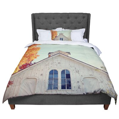 Angie Turner Fall Barn Top Photgraphy Comforter Size: Queen