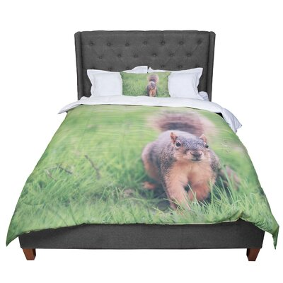 Angie Turner Squirrel Animals Comforter Size: King