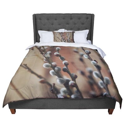 Angie Turner Pussy Willows Comforter Size: Twin
