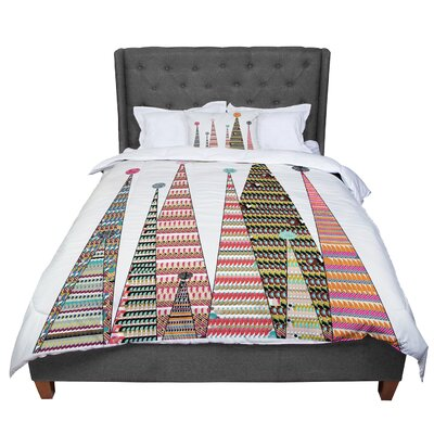 Bri Buckley Feather Peaks Triangles Comforter Size: Queen