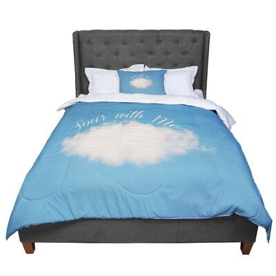 Beth Engel Soar with Me Cloud Comforter Size: Queen