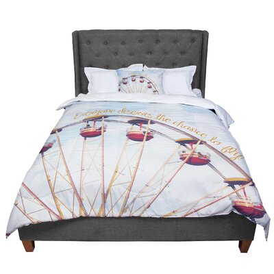 Beth Engel the Chance to Fly Ferris Wheel Comforter Size: Queen