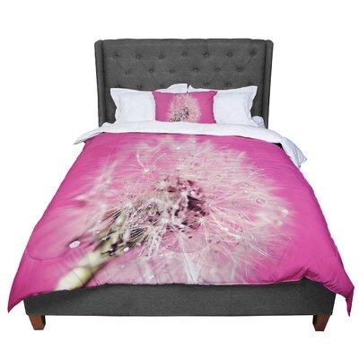 Beth Engel Twilight Magenta Dandelion Comforter Size: King