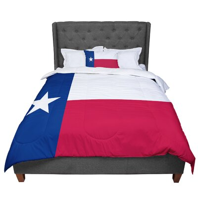 Bruce Stanfield Flag of Texas Comforter Size: King