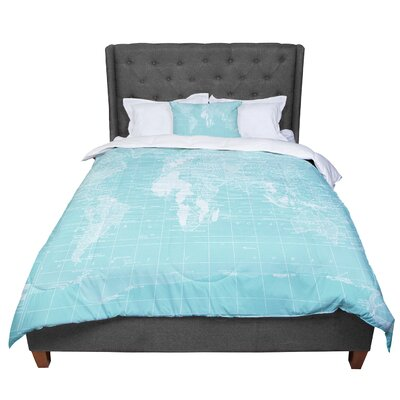 Catherine Holcombe Her World Comforter Size: Twin, Color: Blue