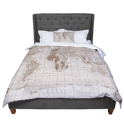 Catherine Holcombe Her World Comforter Size: Queen, Color: Brown