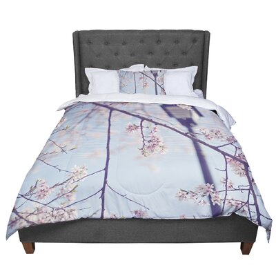 Catherine McDonald Walk with Me Cherry Blossom Comforter Size: Twin