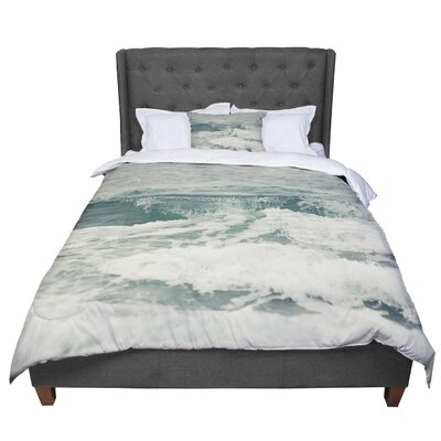 Cristina Mitchell Crashing Waves Ocean Comforter Size: King