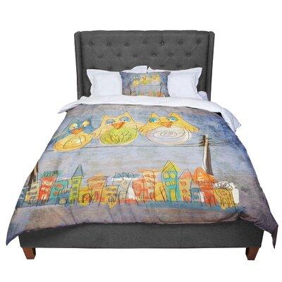Carina Povarchik Lechuzas Comforter Size: King