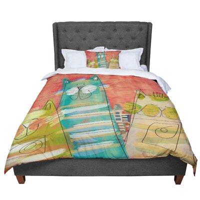 Carina Povarchik Gatos Cat Comforter Size: Queen