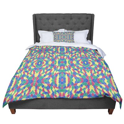 Empire Ruhl Energy Abstract Pattern Comforter Size: King