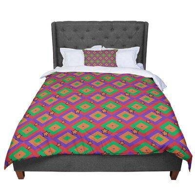 Empire Ruhl Super Stars Geometric Comforter Size: Queen