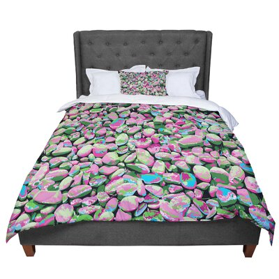 Empire Ruhl Rocks Spring Abstract Comforter Size: King
