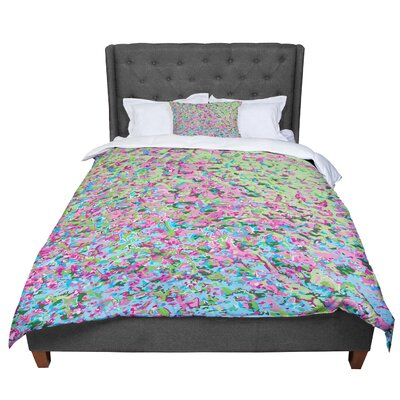Empire Ruhl Spring Puddle Abstract Comforter Size: Twin