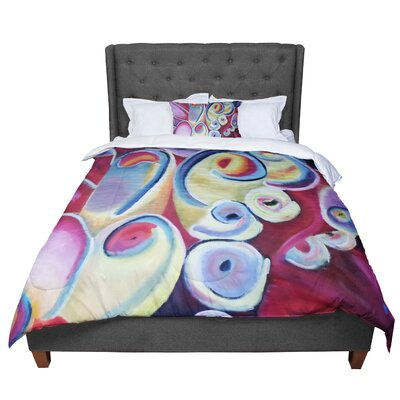 Cathy Rodgers Groovy Rainbow Flowers Comforter Size: Queen