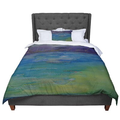 Cyndi Steen Mountains Comforter Size: King