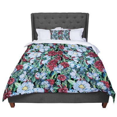 DLKG Design Giardino Garden Flowers Comforter Size: King