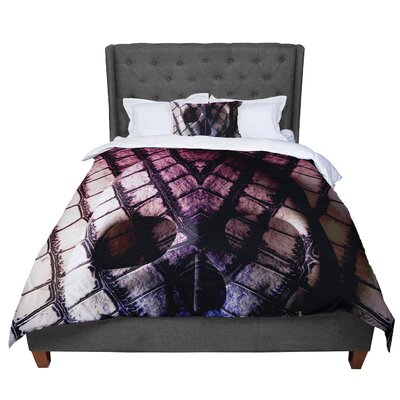 Danny Ivan Skull Dark Comforter Size: King