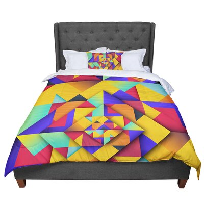 Danny Ivan Shapes II Geometric Comforter Size: Queen